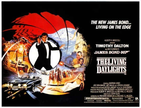 LIVING DAYLIGHTS, Timothy Dalton, (poster art), 1987