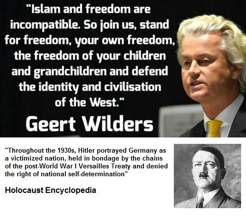 Wilders en Hitler